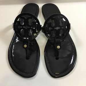 Black tory burch sandals size 9